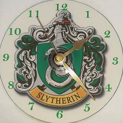 £10.99 • Buy Harry Potter Slytherin House CD Clock Silent Non Ticking Plus Stand