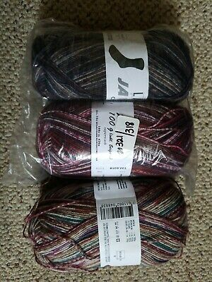 $29 • Buy Lang Sock Yarn Lot Of 3 Skeins, All With The Extra Spool For Reinforcement