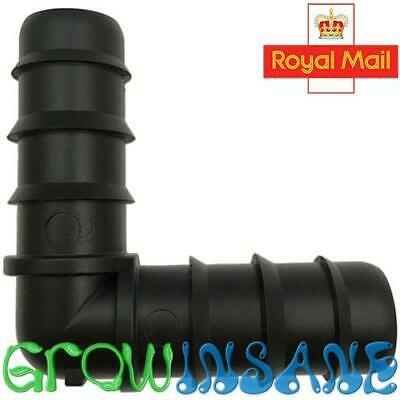 19mm Elbow 3/4  Inch Triple Barb For Irrigation Pipe LDPE Gardening Pond XL • 2.39£