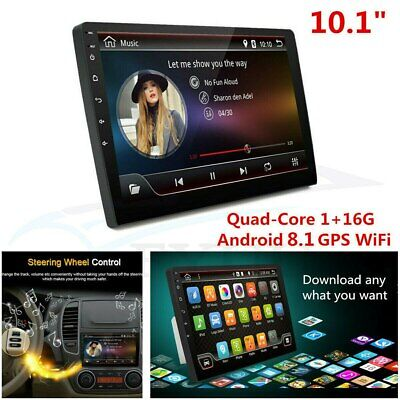 $95.89 • Buy 10.1  Ultra Thin Android 8.1 2Din Quad-Core 1+16G Car Stereo Radio GPS Wifi RDS