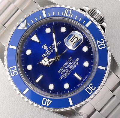 $ CDN12959.44 • Buy Rolex Submariner 16610 Date Stainless Steel 40mm-Custom Blue Ceramic-Blue Dial