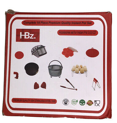 $28.99 • Buy HBz Instant Pot Accessories 14 Pcs Pressure Cooker Set 5,6,8 Qt Premium Quality