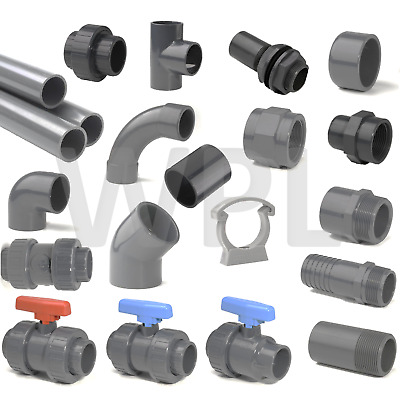 £1.60 • Buy PVC Inch Pressure Pipe & Fittings Solvent Weld 1/2  - 4  WRAS UPVC PVCu Imperial