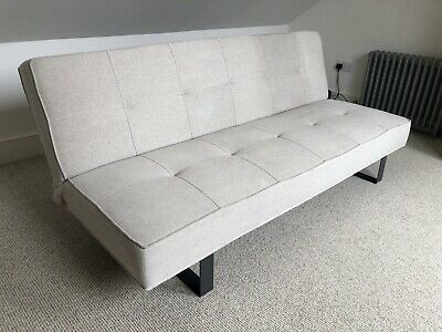 House By John Lewis Sofabed In Neutral Fabric -great Condition! • 93£