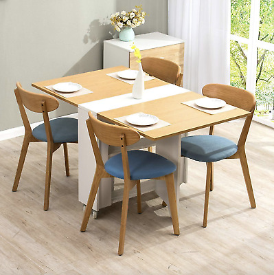 £89.90 • Buy Drop Leaf Dining Table Small Breakfast Room Folding Space Saving Modern Kitchen