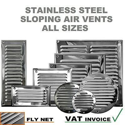 £2.99 • Buy Stainless Steel Louvre Air Vent Grille Cover Metal Duct Ventilation Flat Circle