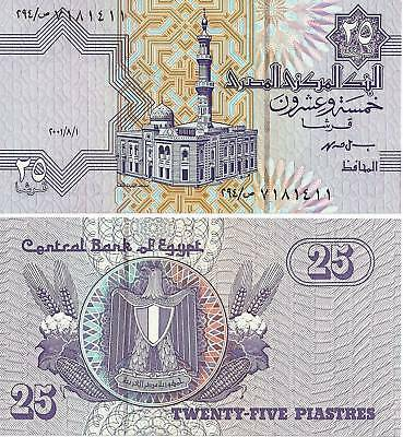 $1.99 • Buy 2001 Egypt 25 Piasters Uncirculated Egyptian Note