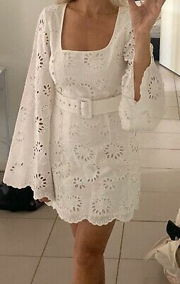 AU100 • Buy Alice Mccall  White Broderie Anglaise  Obscurity Dress  6 BNWOT