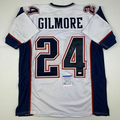 $ CDN219.30 • Buy Autographed/Signed STEPHON GILMORE New England White Football Jersey PSA/DNA COA