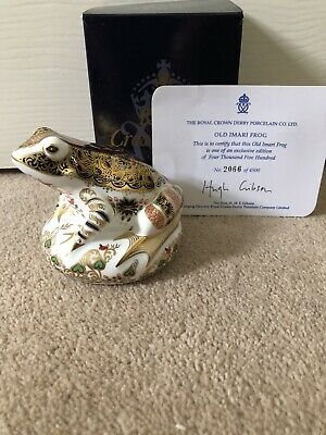 Royal Crown Derby Old Imari Frog Paperweight Exclusive Edition No 2066 Of 4500 • 60£