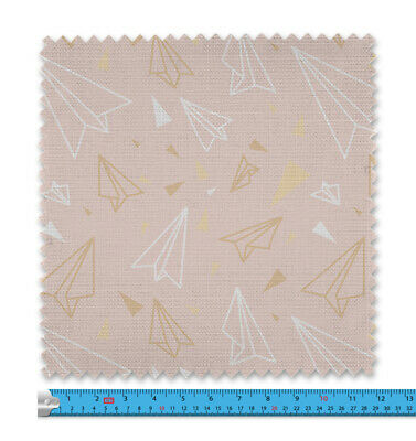 Childrens Pink Paper Planes Fabric 21 Variations Price Per Metre LSFABRIC090 • 9.99£