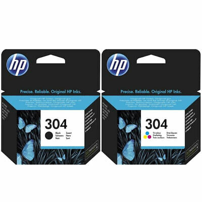 HP 304 Black And Tri-Colour Original Ink Cartridges Combo Pack - Brand New Boxed • 22.99£