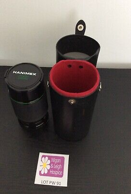 Hanimex MC Automatic Zoom C Macro 1:4.0 80-200 Lens And Case Used Lot PW91 (ty) • 2.99£