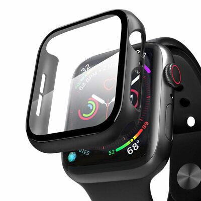$ CDN4.94 • Buy For Apple Watch Series 5/4/ Tempered Glass Full Body Case Cover Screen Protector