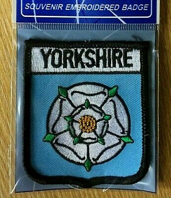 £3.50 • Buy Yorkshire Embroidered White Rose Souvenir Patch
