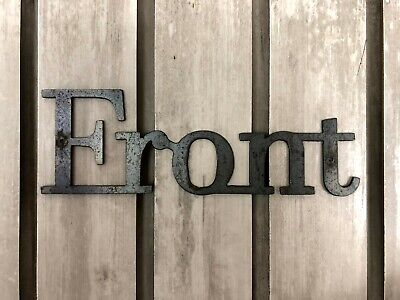 FRONT Metal Wall Art Word Quote Sign Decor, Steel RUSTIC HOME Crafts • 11.44£