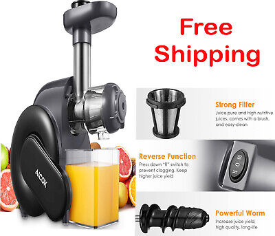 Juicer Machine, Aicok Slow Masticating Juicer With Reverse Function, Cold Press • 119.99£