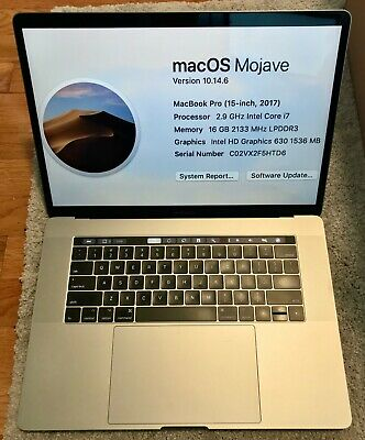 $1279 • Buy EXCELLENT 15  Apple MacBook Pro 2017 TOUCH BAR 2.9GHz I7 16GB RAM 512GB