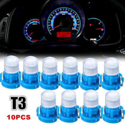 $4.05 • Buy 10pcs Blue T3 Neo Wedge LED Instrument Cluster Dash Panel Climate Light Bulbs