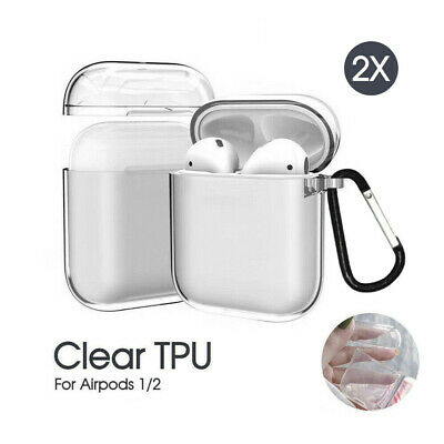 AU7.99 • Buy 2X Transparent Case Cover Shockproof For Apple Airpods Airpod 1/2Clear Skin Soft