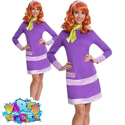 Adult Daphne Costume Ladies Scooby Doo Cartoon World Book Day Fancy Dress Outfit • 26.99£
