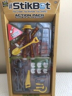 Zing Stikbot Action Pack Farm Pack Role Play Accessory  • 10.03£