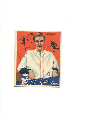 $10.50 • Buy 1934 Goudey Carl Hubbell  #12 Ex Condition Super Colors Very Nice