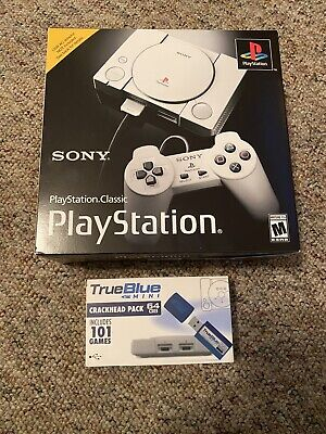 $75 • Buy Sony PlayStation Classic Console W/ True Blue Crackhead Pack. 118 Total Games.