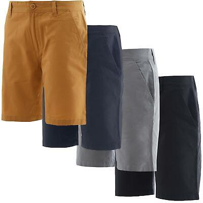 Mens Stretch Chino Shorts Cotton Cargo Combat Casual Half Pant Soul Star • 12.99£