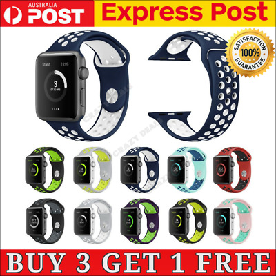 AU8.95 • Buy Sports Silicone Nike Band Bracelet Strap For Apple Watch IWatch Series 5,4,3,2,1