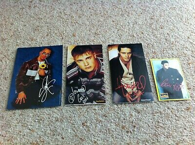 Robbie Williams Gary Barlow Howard Donald Preprinted Signed Photograph/autograph • 0.99£