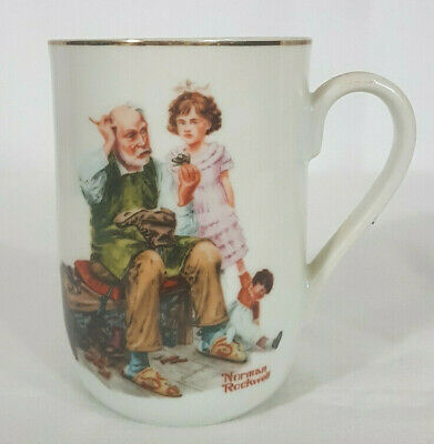 "$ CDN16.80 • Buy Norman Rockwell Museum's ""The Cobbler"" Coffee Mug Or Tea Cup Collectible"