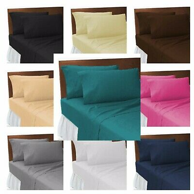 Percale Fitted Bed Sheet Poly Cotton Bunk Beds Single 4FT Double King Super King • 3.05£