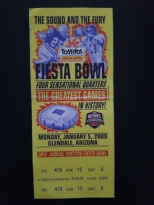 $0.99 • Buy 2009 Ohio State Vs Texas Fiesta Bowl Ticket Stub NCAA College Football Vintage
