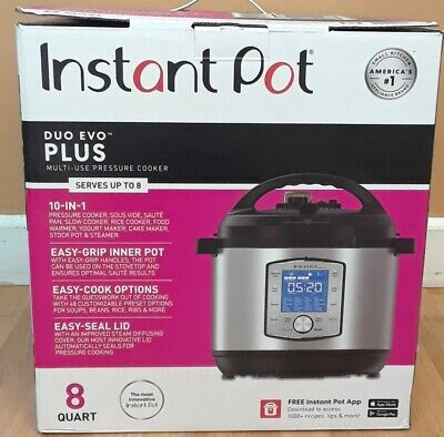 $160 • Buy Instant Pot Duo Evo Plus Multi-use Pressure Cooker,serves Up To 8 Quart,10-in-1