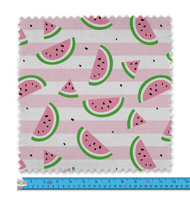 £11.99 • Buy Watermelon And Stripes Fabric 21 Variations Price Per Metre LSFABRIC122
