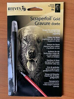 Reeves Gold Scraperfoil Engraving Dog Portrait • 1.70£