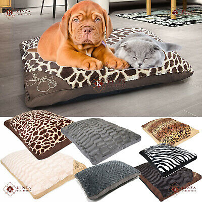 Large & Extra Large Filled Pet Bed Cats Dogs Washable Zipped Mattress Cushions • 13.95£