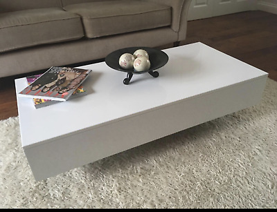 [BRAND NEW] Modern Rectangle Coffee Table High Gloss Coffe Table For Living Room • 9.50£