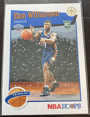$20 • Buy Zion Williamson 2019-20 Panini NBA Hoops Winter Rookie RC #296 SP Centered Mint
