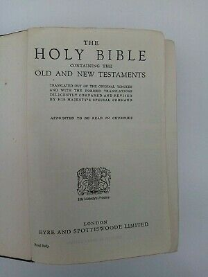 Vintage Holy Bible Illustrated, Old & New Testaments, Eyre & Spottiswoode London • 20£