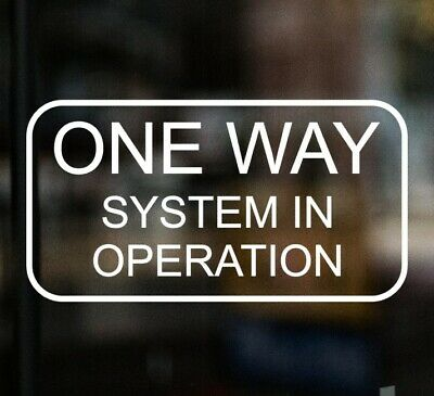 £3.99 • Buy ONE WAY SYSTEM IN OPERATION Chip Shop Sign Window Sticker Cafe Pub Restaurant