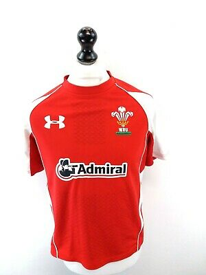 UNDER ARMOUR WALES Mens Rugby Shirt S Small Red White Polyester  • 17.49£