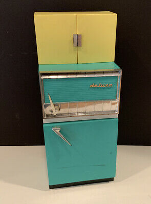 Vintage 1960's Deluxe Reading DREAM KITCHEN Refrigerator Cabinets • 28.16£