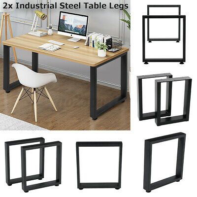 AU85.49 • Buy 2x Industrial Steel Coffee Dining Table Legs Stand Feet Square Shape Frame 40CM