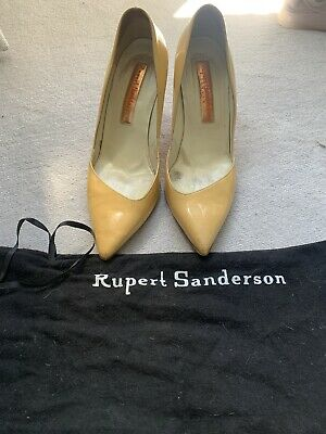 Rupert Sanderson Nude All Leather High Heel Shoes Size 5/38 • 20£