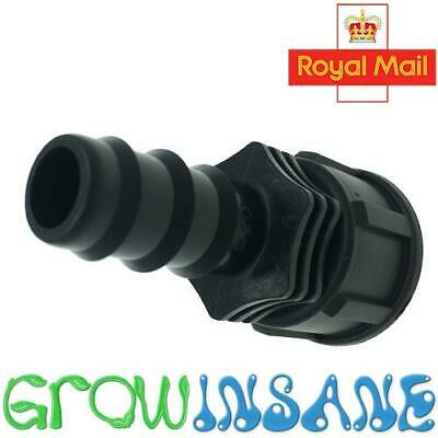 19mm X 3/4  BSP Female Hose Tail Barbed Garden Irrigation Tap Pipe Connector • 3.69£