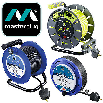 £51 • Buy MasterPlug Socket Cable Reel Extension Lead 4 Gang Cassette Electrical Sockets