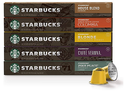 AU55 • Buy Starbucks By Nespresso Coffee Pods Variety Pack 60 Capsules (10 Of Each Flavor)