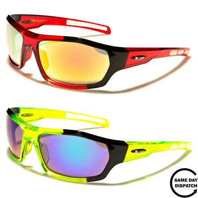 New Mirrored Black XLoop Sport Running Wrap Mens Womens Unisex Sunglasses UV400 • 12.99£